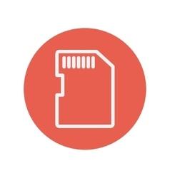 SIM card thin line icon vector