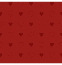 Simple and cute red hearts seamless pattern vector image