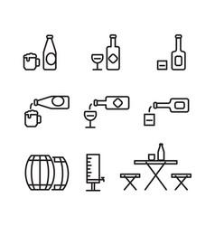 simple beverage icon vector image