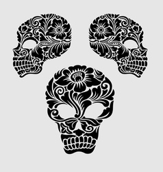 Skull head ornament decoration vector