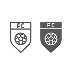 soccer club line and glyph icon game and badge vector image