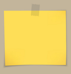Sticky notes and tape vector image