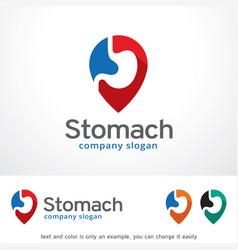 stomach logo template design vector image