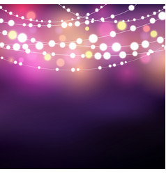 String lights background vector