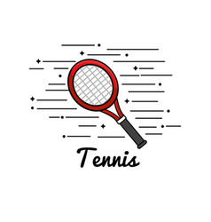 symbol tennis play icon vector image