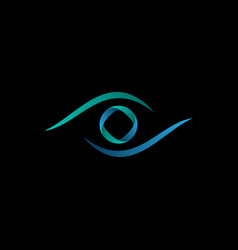 Technology orbit eye logo vector