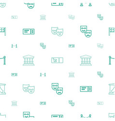 Theater icons pattern seamless white background vector