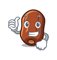 Thumbs up dates fruit character cartoon vector