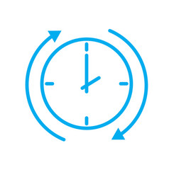 Time arrow icon on white background time arrow vector