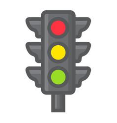 traffic light filled outline icon stoplight vector image