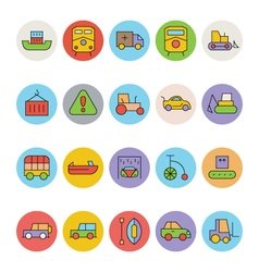 Transport Icons 8 vector image