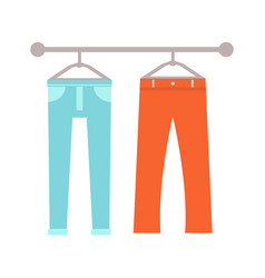 trousers on hangers set poster vector image