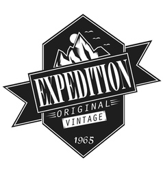 vintage expedition vector image