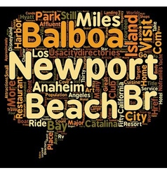 Visit Newport Beach California text background vector