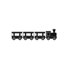 Wagons icon simple style vector