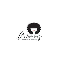 Women frizzy head cute logo symbol icon graphic vector
