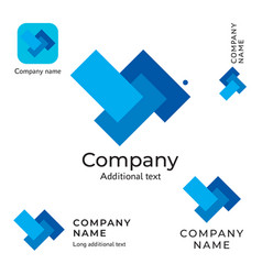 abstract technological rectangles logo design vector image