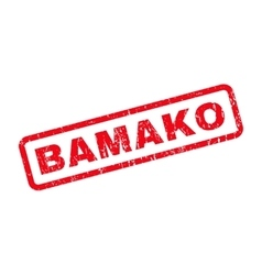 Bamako Rubber Stamp vector image vector image