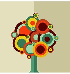 Colorful vintage tree vector image vector image