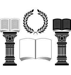 education stencil first variant vector image