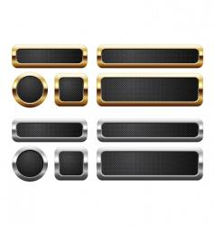 metallic buttons vector image
