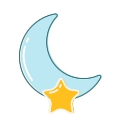 Moon month vector image