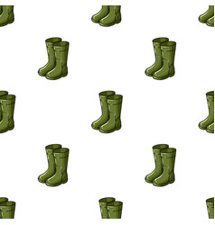 Rubber boots icon in cartoon style isolated on vector