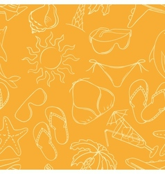 Travel background seamless pattern collor vector