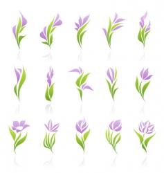 Floral logo template vector