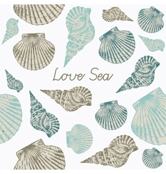 Seashells Seamless background vector image vector image