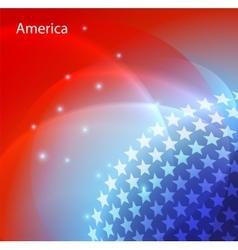 Abstract image of the USA flag vector image