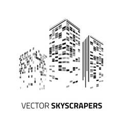 City background - skyscrapers with lights vector image