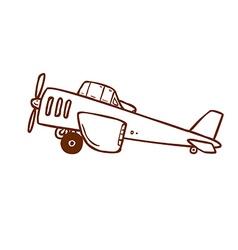 Hand Drawn Light Aircraft vector image vector image