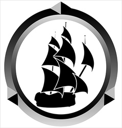 icon of a sailboat vector image