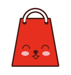 paper shopping bag kawaii character vector image