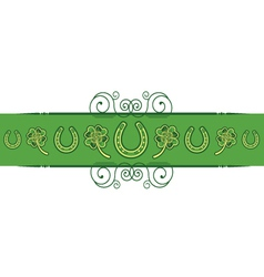 St Patricks Day abstract background with vector image
