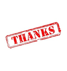 Thanks rubber stamp vector image