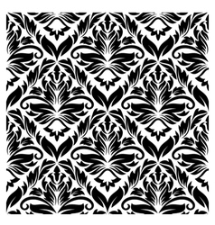 white and black seamless pattern vector image vector image