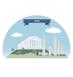 Athens vector image vector image