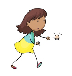 Egg and spoon race vector image