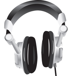 Modern headphones vector image