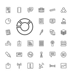 33 information icons vector