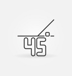 45-degrees linear icon or design element vector image