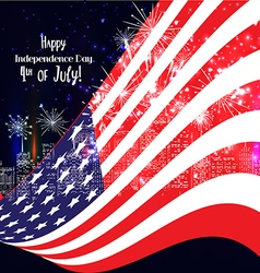 4th of July American Independence Day celebration vector