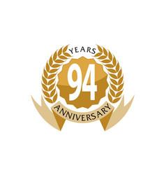 94 years ribbon anniversary vector