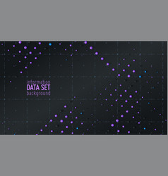 abstract data sorting visualization vector image