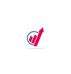 Arrow up progress logo vector
