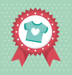 Baby shower card with clothes vector