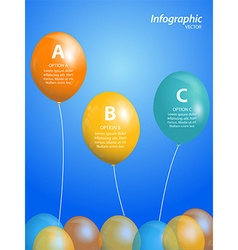 Balloon infographic on blue background vector image vector image
