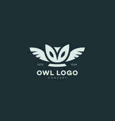 barn owl logo vector image